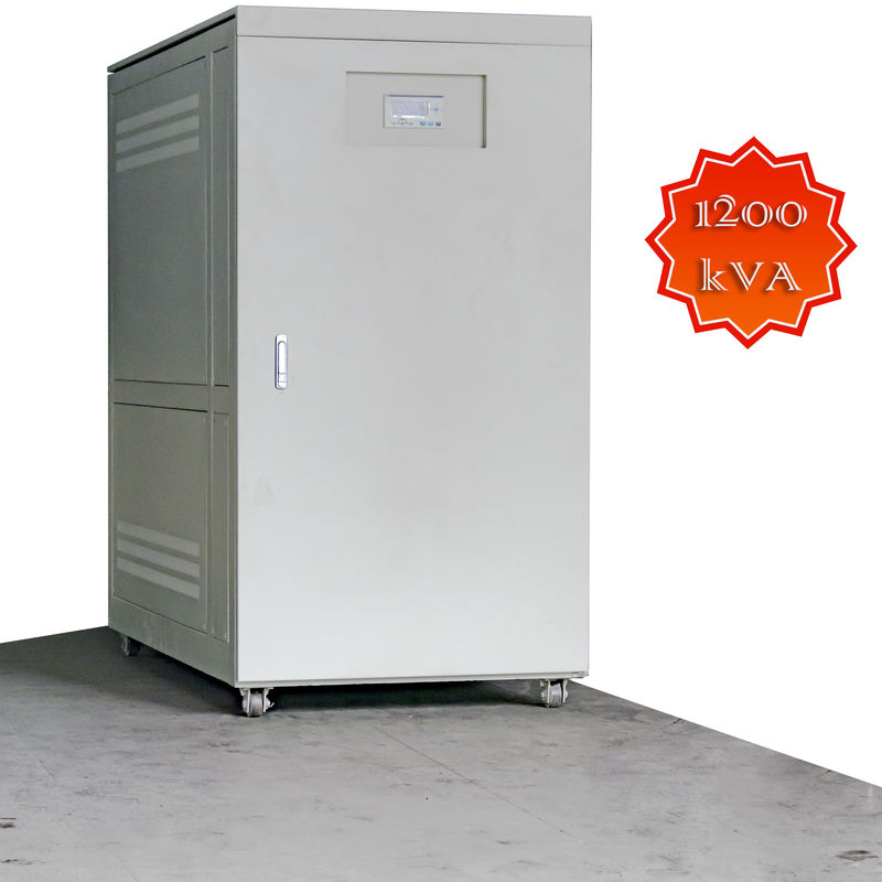 1200KVA High Capacity Servo Controlled Voltage Stabilizer Vertical Full Auomatic supplier
