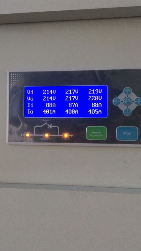 Industrial Low Voltage 1250KVA Three Phase AC Power Stabilizer With Short - Circuit Protection Touch Screen Dispaly supplier
