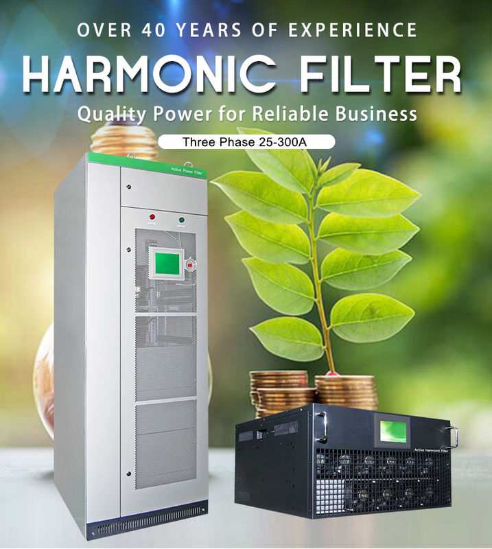 Copper Active Harmonic Filter / Active Power Filter ISO 9001 Passed